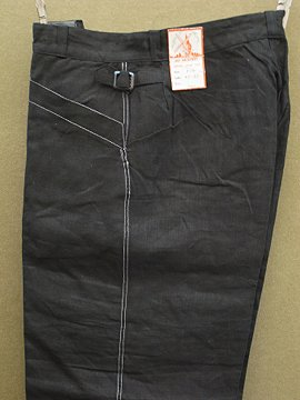 cir.1940-1950's indigo linen work trousers dead stock
