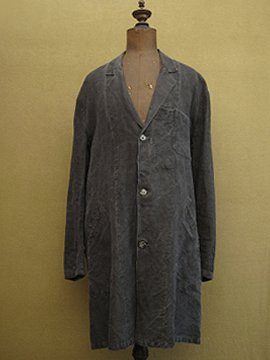 1940's-1950's black linen Maquignon work coat