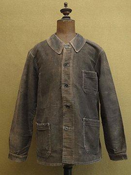 cir.1940-1950's black moleskin jacket