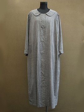 late 1920's striped gray dress