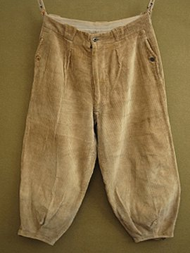 cir. 1930's brown cord trousers