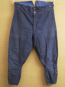cir. 1930-1940's blue cotton jodhpurs