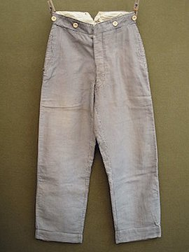 early 20th c. checked cotton trouers
