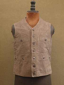 cir. 1930's brown hunting gilet