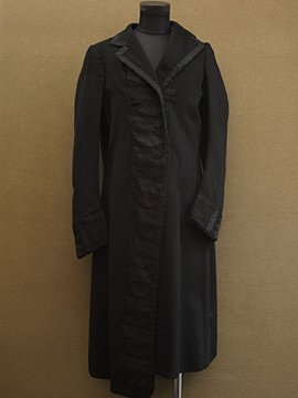 early 20th c. black wool coat