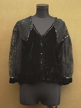 cir.1930's black spangle blouse