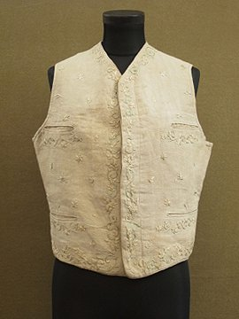 19th - early 20th c. embroidered inen gilet