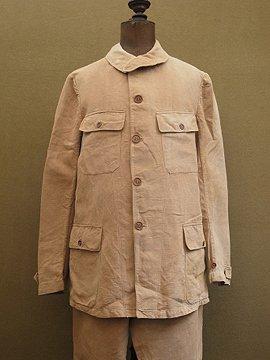 cir. 1920-1930's brown linen set up