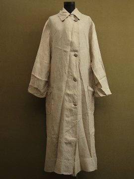 early 20th c. linen driving coat