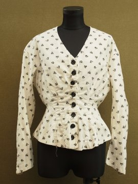 19th c. printed blouse / jacket