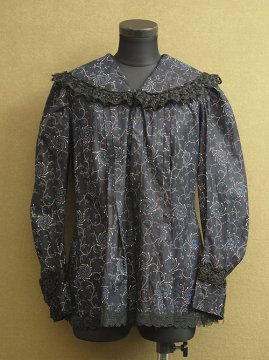 cir.1920's-1940's indigo blouse