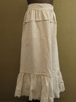 early 20th c. beige linen long skirt