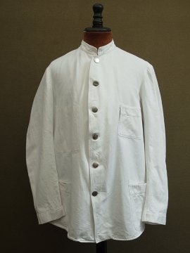 cir.1930-1940's white cotton twill jacket
