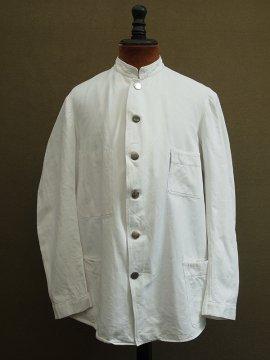 cir.1930-1940's white cotton twill jacket