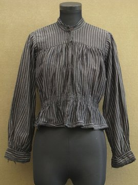 early 20th c. striped black bodice