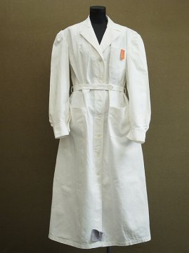 mid 20th c. dead stock white work coat