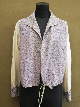 cir.1920's purple × cream blouse