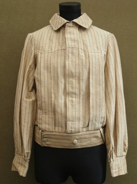 early 20th c. dead stock striped silk blouse