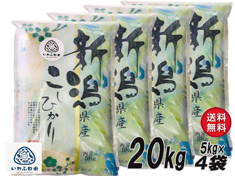 《小分けタイプ》  【産地直送米】 『送料無料』 令和2年産 にいがた岩船産 コシヒカリ 白米20kg(5kg×4袋)(沖縄と一部地域を除く)