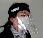 飛沫感染対策「顔面シールドSE」5枚入り