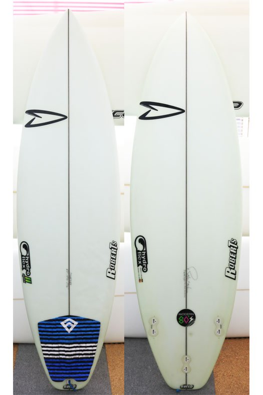 "Roberts Modern 80's  6'0""-19 3/4""-2 9/16"" Hydro Flex Natural ユーズド"