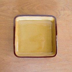 湯町釜 茶四角皿