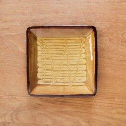 湯町釜 四角皿