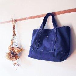 トートバッグ紺(帆布素材)