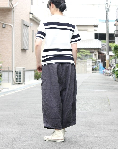 Ordinary fits BALL PANTS linen NAVY