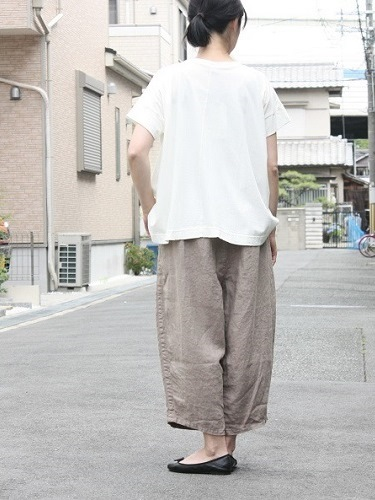 Ordinary fits BALL PANTS linen GREY