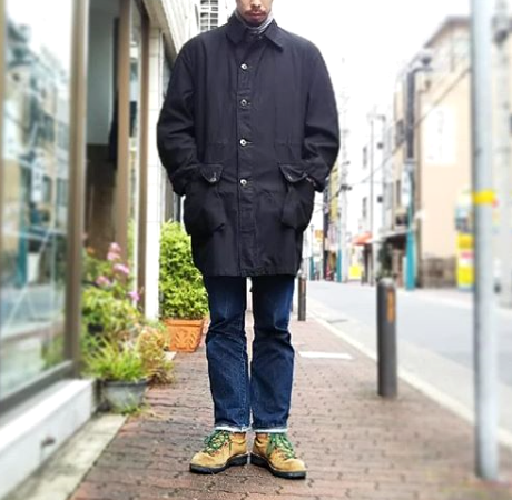 SWEDEN ARMY (スウェーデン軍) M59 COAT USED BLACK