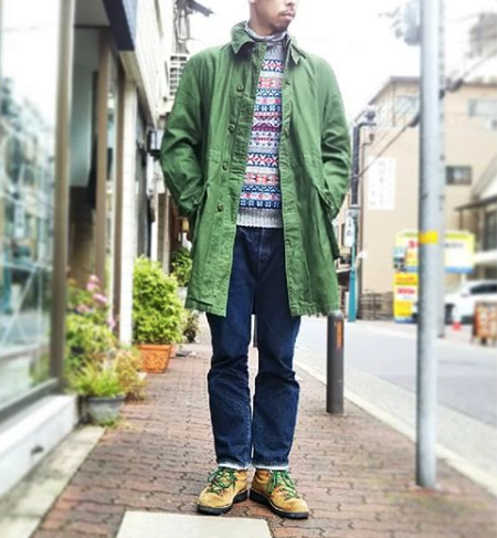 SWEDEN ARMY (スウェーデン軍) M59 COAT USED OLIVE