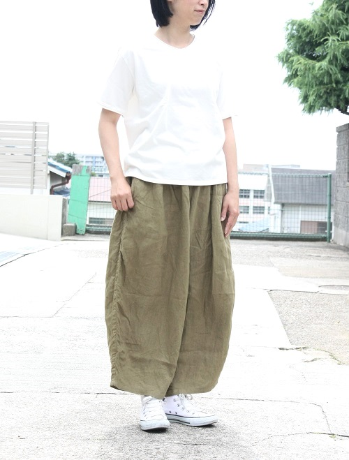 Ordinary fits BALL PANTS linen CAMEL