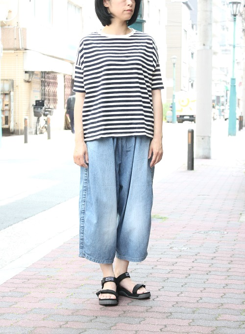 Ordinary fits BALL PANTS denim NAVY USED