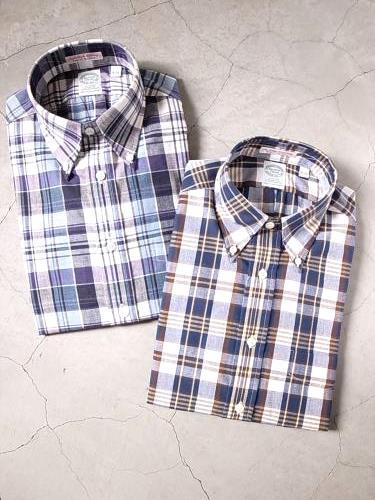 《50% OFF》 KEATON CHASE USA マドラスチェックシャツ mens