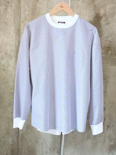 《30% OFF》 SUNNY SPORTS Combo LS Pocket Crew blue stripe mens