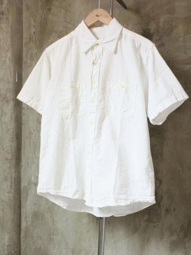 CAMCO 半袖シャンブレーワークシャツ WHITE mens