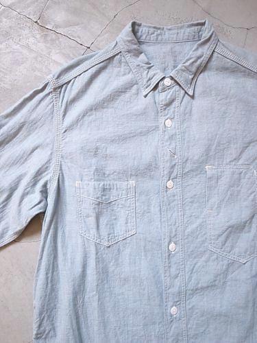 《30% OFF》 SUNNY SPORTS レイルロードシャンブレーシャツ blue grey mens