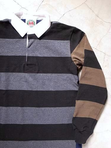 BARBARIAN ラガーシャツ クレイジーパターン mens
