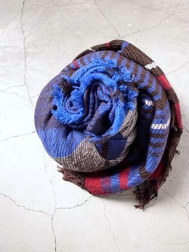 tamaki  niime 玉木新雌 roots shawl wool×cotton  big
