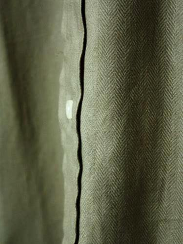 INDIVIDUALIZED SHIRTS HERRINGBONE B.D Standard fit OLIVE mens