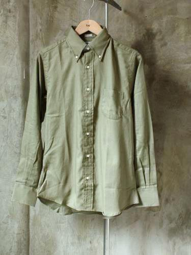 INDIVIDUALIZED SHIRTS HERRINGBONE B.D Standard fit OLIVE mens