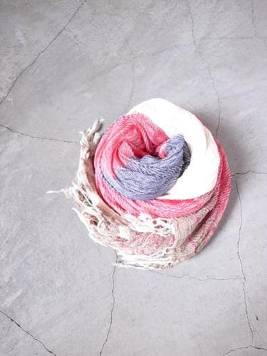 tamaki  niime 玉木新雌 roots shawl cotton middle