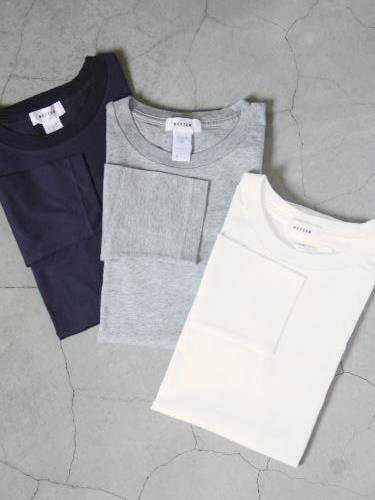 BETTER クルーネック長袖Tee mens