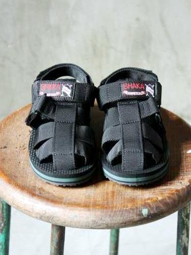 SHAKA サンダル 『HIKER KIDS』 BLACK kids