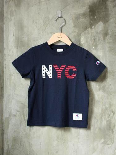 Champion キッズプリントTee 【NYC】 kids