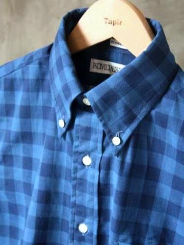 INDIVIDUALIZED SHIRTS BLOCK CHECK B.D Standard fit mens