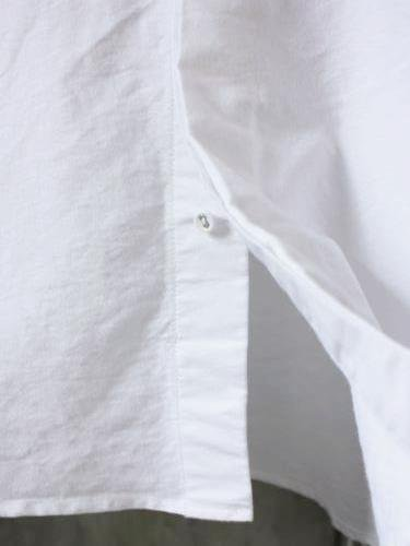 EEL Products 陶器釦のシャツ17 WHITE unisex