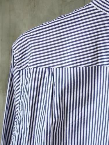 STILL BY HAND バンドカラーシャツ STRIPE mens