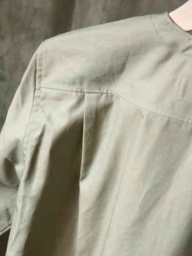 《30% OFF》 HAVERSACK ノーカラーシャツ KHAKI mens